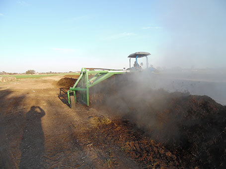 Turning thermal compost
